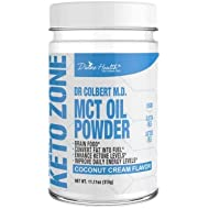Divine Health Keto Zone MCT Oil Powder, Coconut Flavor, 300 g