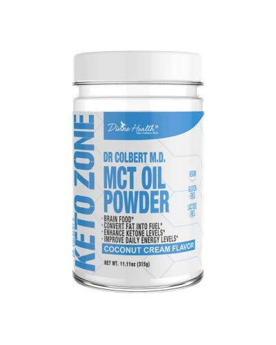 Keto Zone MCT Oil Powder | Coconut Cream Flavor | 30 Day Supply | 75/C8 25/C10 | 0 Net Carbs | All Natural Keto Approved For Ketosis | For Sale
