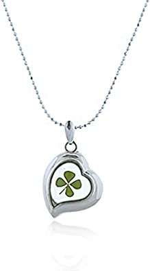 Real Shamrock Glass Chain-stainless Steel