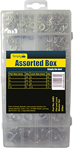 Simply ASB3 Flat and Lock Washer Assortment: