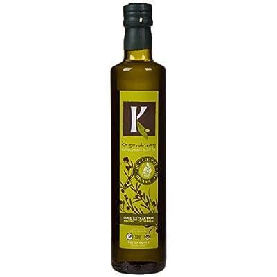 Kasandrinos Organic Extra Virgin Greek Olive Oil (500 ML Bottle) by Kasandrinos