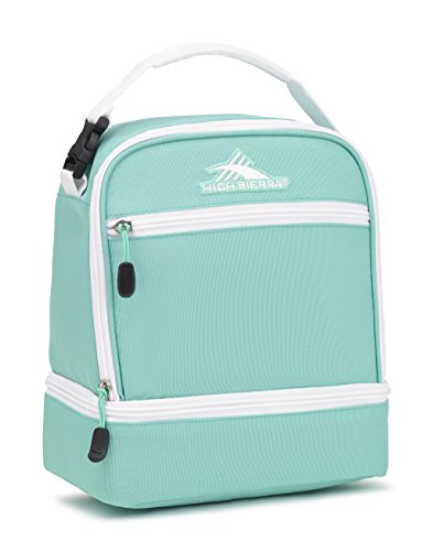 High Sierra Stacked Compartment Lunch Bag, Aquamarine/White