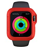Apple Watch Case 42mm – Actionproof Sports Cover - Impact Protection – Premium Rubber [Laperen – Ultra Lightweight Accessory – Ideal for Active Lifestyle – Made in Italy – (Red) (Wireless Phone Accessory)