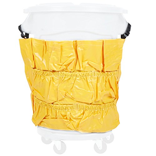 Janitor Cart Microfiber (Boss Cleaning Equipment B010131 Tool Caddy Bag, Fits 32 or 44 Gallon Round Garbage Container)