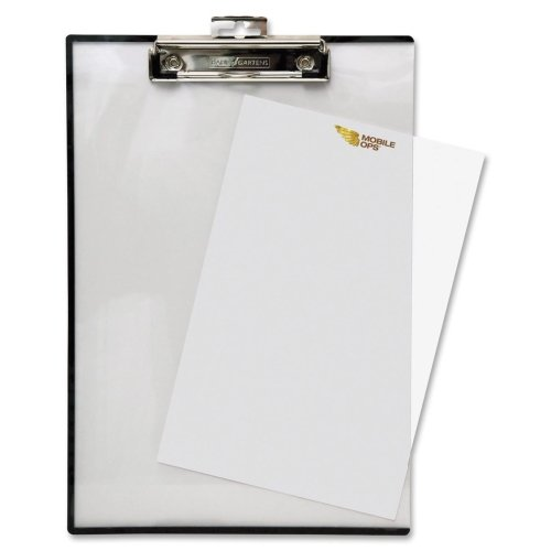 Wholesale CASE of 20 - Baumgartens Quick Release Clipboard-Double Panel See-Thru Clipboard, 9