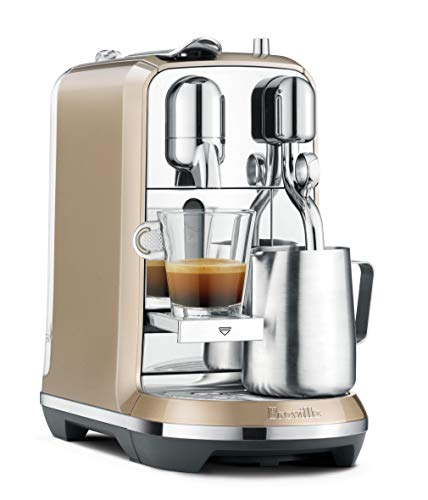 (Breville Nespresso Creatista Single Serve Espresso Machine with Milk Auto Steam Wand, Champagne (Renewed))