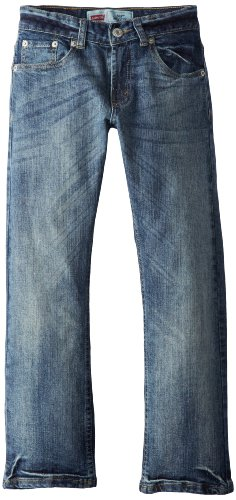 Regular Levis Fit 505 Denim (Levi's Boys' 505 Regular Fit Jeans, Clouded Tones, 16 Slim)