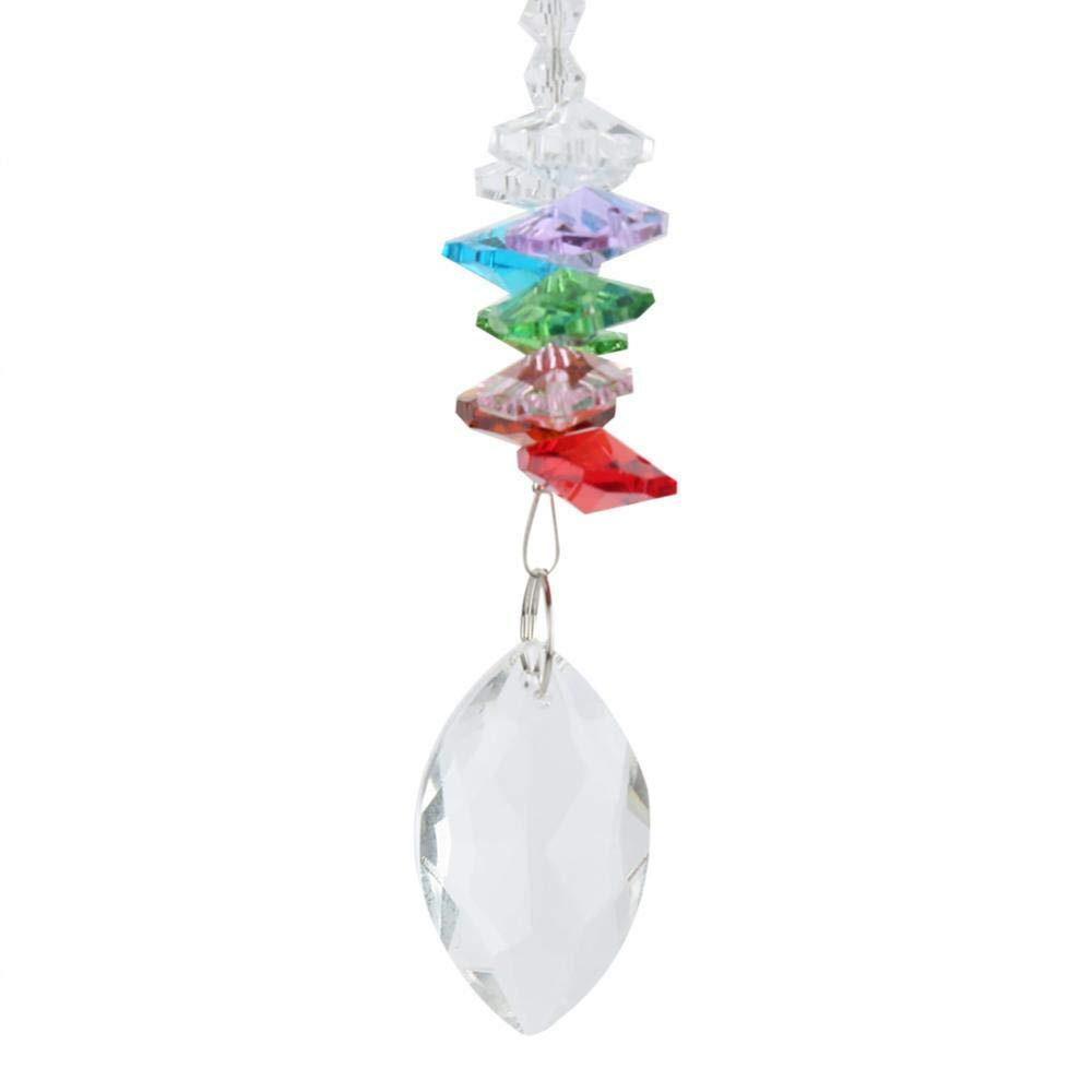 Capteurs de soleil 3 pi/èces lustre en verre cristal suspendu ornement Rainbow Maker Suncatcher avec pendentif color/é pour la maison Windows d/écoration