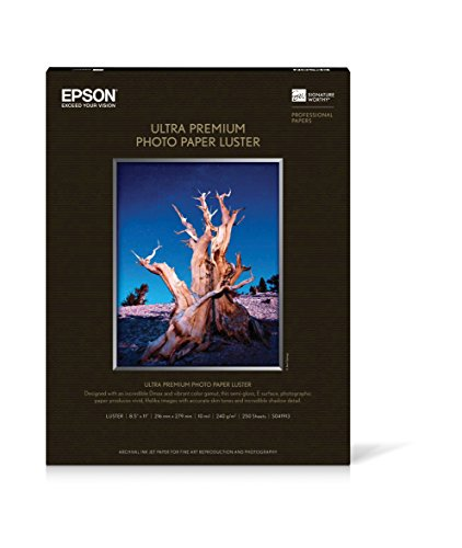 - Premium Luster Photo Paper 8.5IN X 11IN 250 Sheets