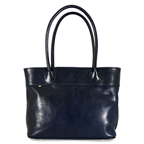 Pelletteria A Spalla Zip Made Donna Toscana A Borsa Blu Donna Interno Pelle Colore Italy Con In Scomparto In Borsa 5EqRRy67K