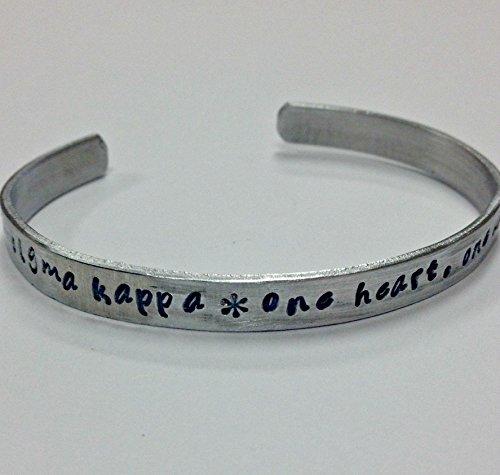 sigma-kappa-motto-bracelet-one-heart-one-way-handstamped-on-a-non-tarnish-aluminum-cuff-bracelet