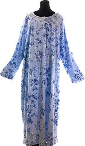 Nightgown Cotton Charter Club (Charter Club 100% Cotton Nightgown (Small, Blue Tapestry))