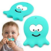 6 Month Old Baby Toys - Adorable Teething Octopus - Best Sensory Learning Teether For Girl Or Boy Infant Newborn 3/12 Months/1 Year Old - BPA Free Silicone - Cool Baby Shower Gifts