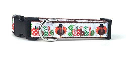 Product image of Midlee Large Gobble Thanksgiving Nylon Ribbon Dog Collar