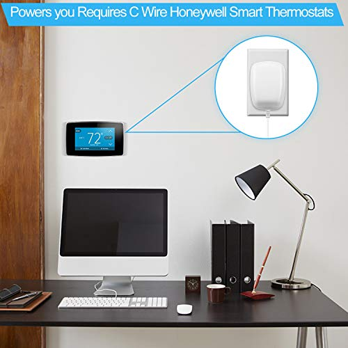24 Volt Power Adapter/Transformer?C-Wire Adapter Thermostat?Compatible with  Honeywell ?Nest Ecobee? Sensi and Smart WiFi Thermostat Pro(25Foot /7 6M
