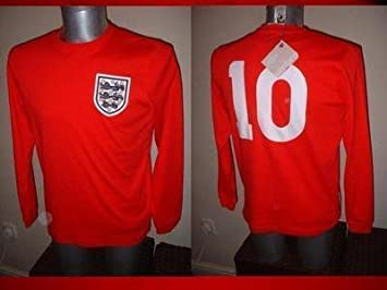 9eba5b97259 Image Unavailable. Image not available for. Colour: England Shirt Jersey  BNWT Adult Small Umbro Hurst West Ham 1966 Winners Football Soccer Long  Sleeve