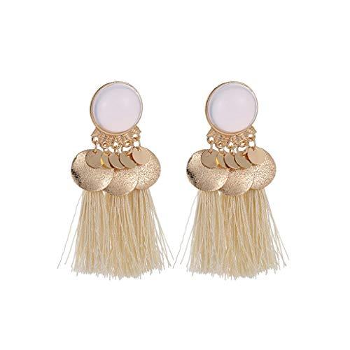 Redvive Top Bohemian Ethnic Retro Geometric Long Tassel Pendant Earrings Ladies Jewelry