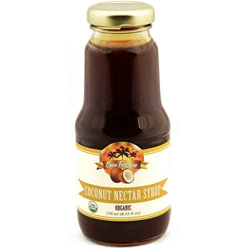 Coco Treasure Organic Coconut Nectar Syrup 8.45 Fluid Ounces - Vegan, Gluten Free, Non GMO