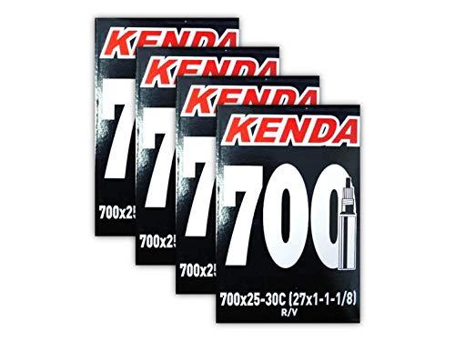 Kenda 700x25-30c Road Bike Inner Tubes - 4 Pack (700x25-30 48mm)