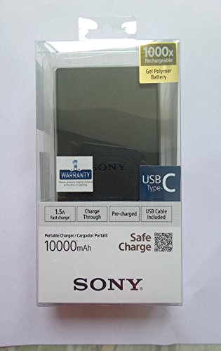 Sony CP V10B1 10000mAH Lithium Polymer Power Bank  Black