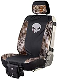 Chris Kyle American Sniper Tactical Low Back Seat Cover, Water Resistant with Seat Back Adjustable Rifle Strap
