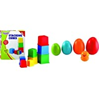 Funskool Giggles Stacking Cubes + Giggles Nesting Eggs