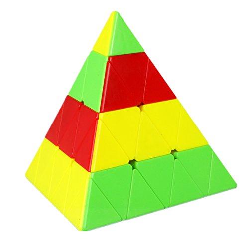 CuberSpeed Qiyi 4x4 Pyramid stickerless Magic cube Qiyi Master Pyraminx Speed cube