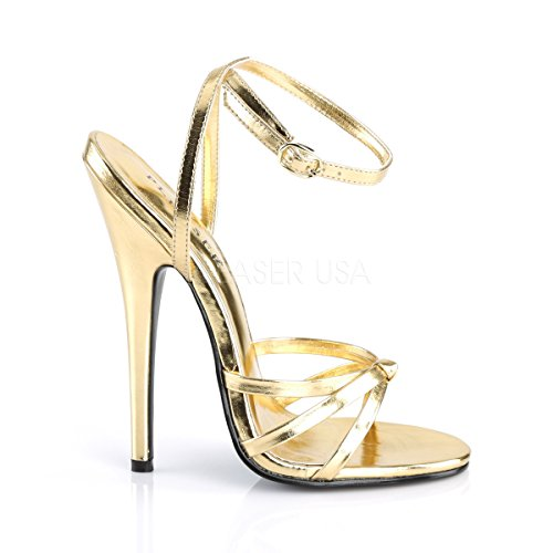 Strappy Heels PleaserUSA Sandals gold Domina matte High gold 108 matte Womens gnnxHqBw4