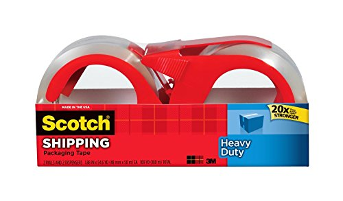 3M Heavy Duty Shipping Packaging Tape with Refillable Dis...