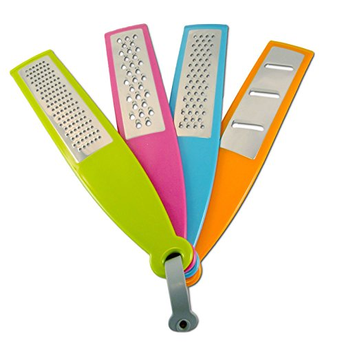 - Tenta Kitchen Multifunction, Multi-size, Multicolor Zester/grater/slicer Set of 4
