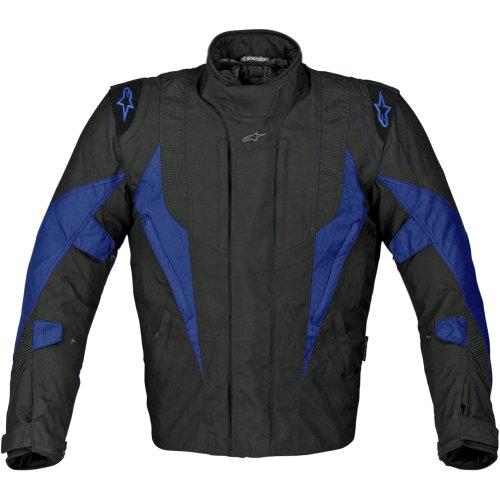Alpinestars P1 Sport-Touring Drystar Men's Textile Sports Bike Racing Motorcycle Jacket - Black/Blue / 3X-Large