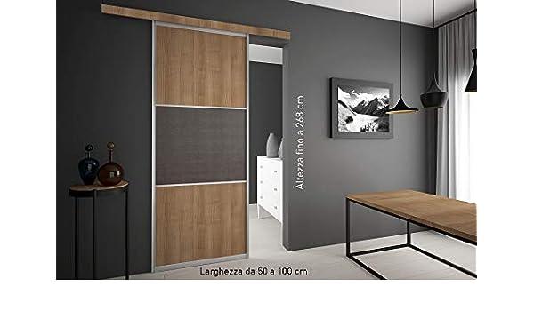 Puerta corredera exterior de pared a medida. Acabado de madera a elegir.: Amazon.es: Bricolaje y herramientas