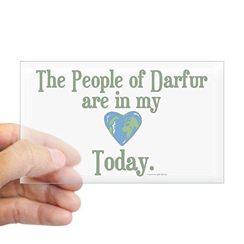 Darfur Heart - CafePress Darfur Heart 3 Rectangle Sticker Rectangle Bumper Sticker Car Decal