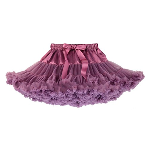 Honeystore Girl's Baby Halloween Dance Tutu Costumes Plum Infant Petticoat Skirt Large -