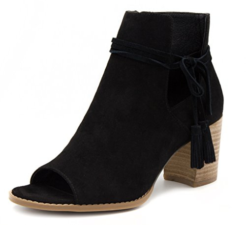 Image of Mari A Women's Alana Tasseled Ankle Boot Peep Toe Bootie