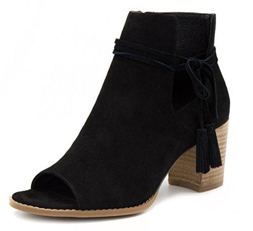 Image of Mari A Women's Alana Tasseled Ankle Boot Peep Toe Bootie