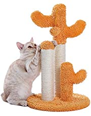 PAWZ Road Cactus Cat Scratching Post with Natural Sisal Ropes, Interactive Ball, Cat Scratcher for Cats and Kittens