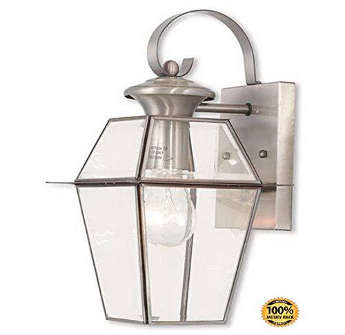 (ArtMuseKits 2181-91 Westover 1 Light BN Outdoor Wall Lantern, Brushed)