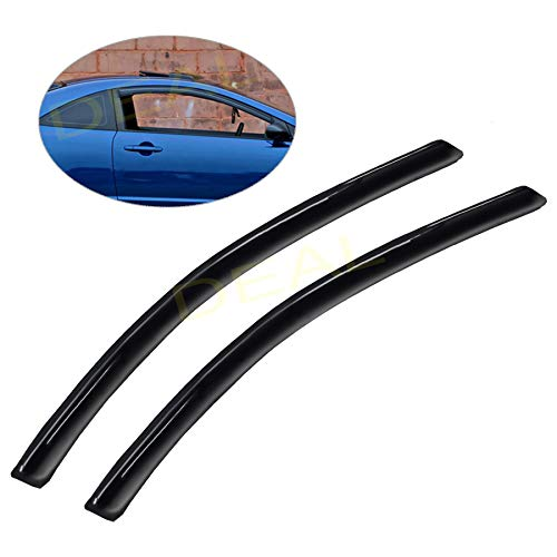 DEAL 2-piece set JDM style vent smoke window visor, side window sun rain guard with outside mount tape-on type, custom fit for 2006-2011 Honda Civic 2-Door Coupe Only
