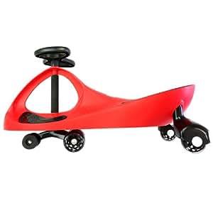 EIGHTBIT Swivel Car Rolling Ride On Car - Indoor / Outdoor - Red