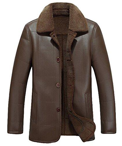 Marrone Uomo Stile Calda Cappotti Scuro Donna Peso Da Giacca In Spessore Invernali Di Casual I7wqEpx4Wg