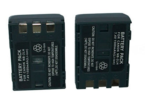 (TWO Battery for Canon NB-2L NB-2LH 400D Rebel XT XTi)
