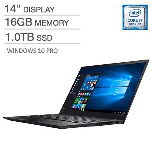 2019 Ultralight Lenovo ThinkPad X1 Carbon Business Laptop Ultrabook, Intel Core i7-8565U, 16GB RAM, Upgraded to 1TB SSD, 14 Inch Full HD Display, Backlit Keyboard, Windows 10 Pro (The Best Ultrabook 2019)