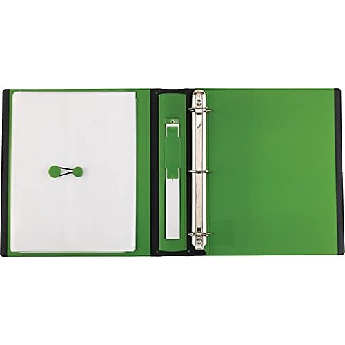 staples 1 1 2 inch better view binders with d rings green import