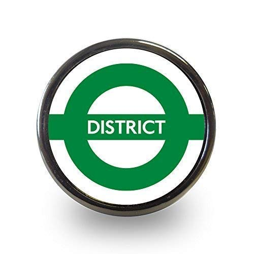 District Line London Underground Cupboard Door Knob Drawer Pull Cabinet Handle Tube Subway Metro by Pushka Knobs