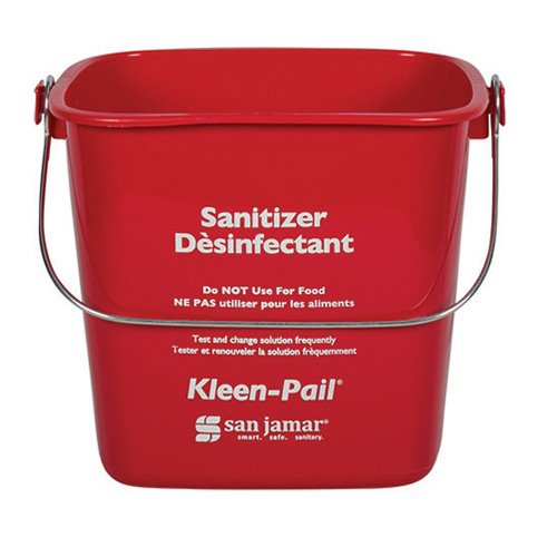 Pail Red Kleen - San Jamar KP256RD Kleen-Pail Commercial Cleaning Bucket, 8 Quart, Red