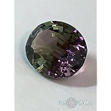 Color change Purple-Grey #M2708. Oval 10x8mm. 2,75 Ct. Monosital created loose gemstone. US@GEMS