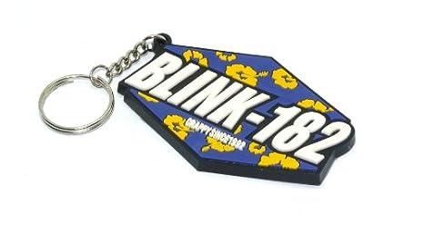 Amazon.com: Blink 182 llavero de goma llavero: Office Products