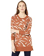 Amazon Brand - Daily Ritual Women's Terry Cotton and Modal Side-Vent Tunic