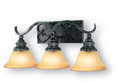 Tortoise Shell Woodbridge Lighting 53046-TOR Rosedale 3-Light Bath Light